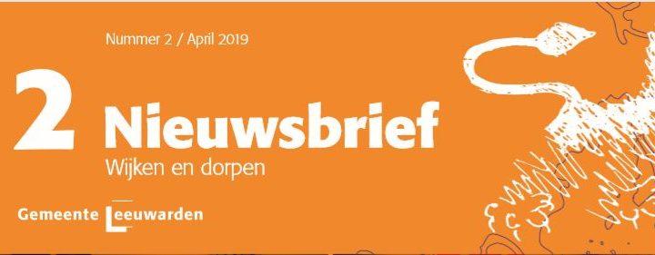 Nieuwsbrief Wijken en Dorpen van april  2019.