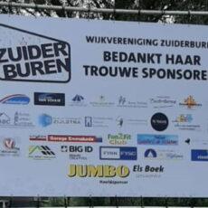 Doek met sponsoren
